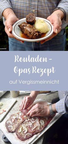 Leckere deutsche Rinder Rouladen ein einfaches Rezept von meinem Opa. Das Familienrezept gibt es immer bei einem Familienessen im Menü. Das klassische Rezept ist perfekt zu Weihnachten. Mit einer schmackhaften Soße und Klößen.
