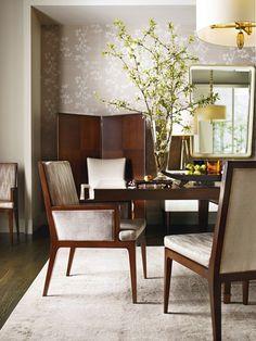 Barbara Barry designed dining room via Canadian House and Home