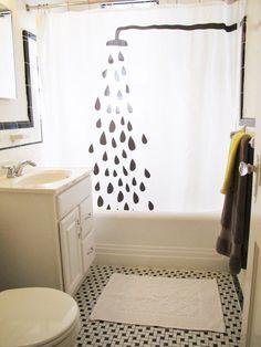 Para pintar cortina de baño
