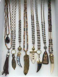 nice Boho, one of a kind necklaces. Wholesale and retail. Lisajilljewelry@g......