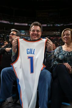 Checking in courtside at the Thunder game on Jan. 4 - Vince Gill!