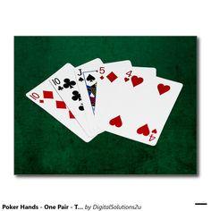 Poker Hands - One Pair - Ten Postcard
