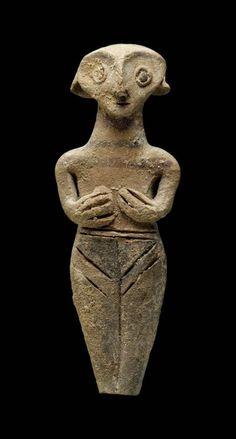 Goddess Figurine Cyprus, 1450-1200 BC . The Museum of Fine Arts, Boston
