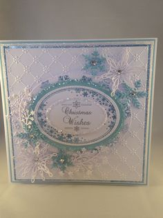 Card made using Phill Martin's stamps and sue Wilson's dies and embossing folder.