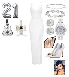 """""""All White Party"""" by shey-mabry ❤ liked on Polyvore featuring Rolex, Frederic Sage, Suzanne Kalan, Versace and Tom Dixon"""