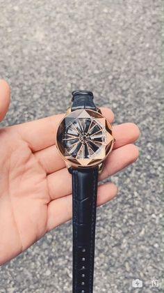 Großen turntable-Stil Damen Uhr