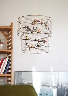 Chandeliers Lighting Cage double pendentif lustre lumière | Etsy...