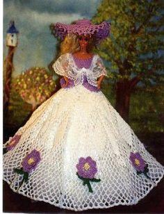 Häkeln Mode Puppe Barbie Pattern 70 von JudysDollPatterns auf Etsy