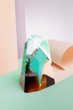 Amber resin sculpture by Zuza Mengham for Laboratory Perfumes. Image: Ilka & Franz