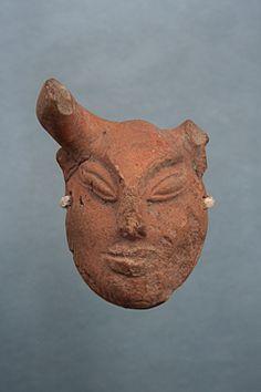 Human Mask (puppet) 2700-2200 B.C. Place of Origin: Mohenjodaro Materials: Terracotta Dimensions: 5.1 x 3.1 x 2.1 cm