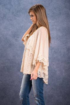 Salty Air Top, Beige || We know that you are craving that salty beach air! We all are! This loose and flowing boho top will look amazing fluttering in the beach air! All that crochet and lace together makes our hearts skip a beat! This top paired with distressed jeans or shorts is going to be a fab boho look!