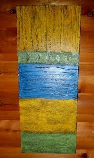 This is a project I did on how to make textured canvas art.