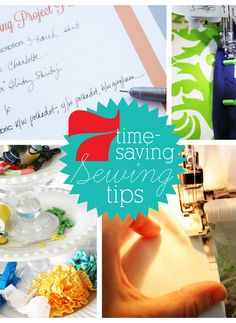7 Time-Saving Sewing Tips:  I especially like the idea of using mini clothespins instead of straight pins for bindings and piping.