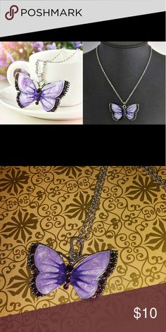 Purple Butterfly Pendant Statement Necklace Fashion Jewelry 24in chain Purple Butterfly Pendant Brand new high quality What u see is What u get Next day shipping Bundle n save Please follow n share I'm raising money for my family i greatly appreciate every share like n purchase. Kisses hugs Jewelry Necklaces