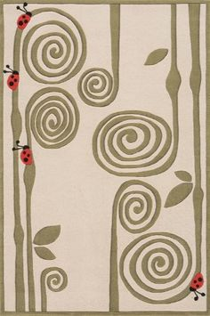 Momeni Rugs Contemporary Area Rug Lil Mo Whimsy Collection LMJ-3 Ivory 8'x10', Beige