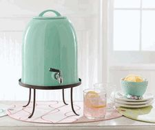 Sealed Green Ceramic Bell Shaped Lemonade Drink Dispenser by Tag Azul Tiffany, Tiffany Blue, Drink Dispenser, Water Dispenser, My Favorite Color, A Table, Tea Party, Unique Gifts, Sweet Home