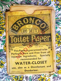 Antique lavatory paper! by the vintage cottage, via Flickr