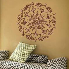 adesivo decorativo mandala - 90x90cm - decoração artm adesivos