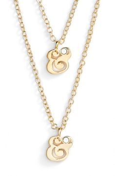 660c7ce62df kate spade new york kate spade new york ampersand pendant necklaces (Set of  2)