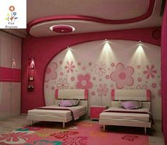 Children's Bedroom Decorating Ideas Might it be the time for you to put the nursery mattress away? Below are a few ideas that will assist you along with your son or daughter… Continue Reading → House Ceiling Design, Ceiling Design Living Room, Bedroom False Ceiling Design, Bedroom Wall Designs, Bedroom Bed Design, Bedroom Decor, Girls Bedroom, Interior Design Images, Kids Room Design