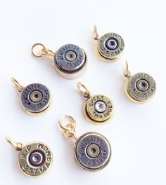 Bullet Pendant or Charm - Bullet Jewelry - Western - Bling. $32.00, via Etsy.