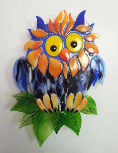 Fused glass owl 2