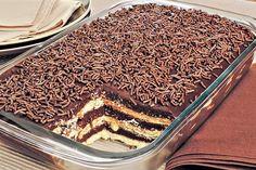 pavê de brigadeiro com chocolate meio amargo