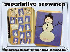 Ginger Snaps: Superlative Snowmen - grammar idea for comparative and superlative adjectives