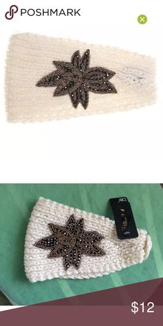 David & Young winter head wrap hand knitted New David & Young Collection Hand Knit Jeweled Headwrap One Size Brand new with tag 100% acrylic  One size fits all 📌📌price is firm david & young Accessories Hair Accessories