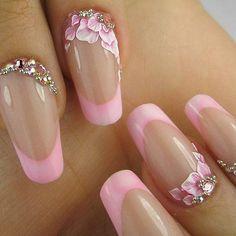 Friendly Nail Art Community with Nail Art Picture and Video Tutorials. Make your nails look awesome and share your nail art designs! Fancy Nails, Pink Nails, Cute Nails, Pretty Nails, Red Nail, Pastel Nails, Acrylic Nail Art, 3d Nail Art, Cool Nail Art