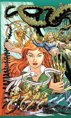 Aquaman and Mera by Mike Kaluta