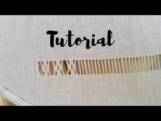 RICAMO Tutorial - Sfilatura a Rombi - YouTube