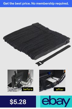 ccab46046001 BLACK ZIP TIES! 100 pcs 8 | Products | Cable tie, Rope tying, Wire wrapping