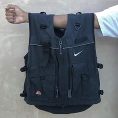 I protect LIL B; might come in wit dat extra on me. #ACG Nike Vest, Merchandise Bags, Fishing Vest, Utility Vest, Nike Acg, Pillow Ideas, Work Clothes, Old Navy, Street Wear