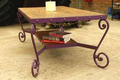Mesa de madera y hierro forjado contacto: madera-hierro@hotmail.com 7850.00 pesomex