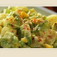 Wasabi &  Avocado Potato Salad. Serve as a side dish with teriyaki chicken or salmon, or try with Grilled Chicken Avocado Melt.
