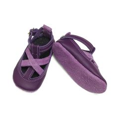Buy Now Purple and Mauve Leather baby shoes.  Baby sandals. ...
