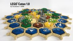 Link to full album Here is a randomly-created setup, before gameplay begins. Hama Beads Minecraft, Perler Beads, Lego Mecha, Lego Bionicle, Lego Design, Pokemon Lego, Art Hama, Box Container, Lego Craft