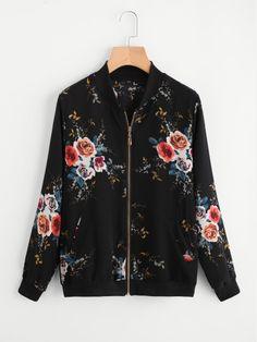Shop Floral Print Chiffon Jacket online. SheIn offers Floral Print Chiffon  Jacket  amp  more 8cbab55473