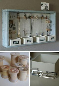 17 Awesome Bedroom Organization Ideas You Can Do Before Holidays - Hanging Jewe. - 17 Awesome Bedroom Organization Ideas You Can Do Before Holidays – Hanging Jewelry Organizer Diy Jewelry Holder, Hanging Jewelry Organizer, Jewelry Rack, Jewelry Stand, Diy Necklace Holder, Lc Jewelry, Hang Jewelry, Jewelry Bracelets, Bracelet Holders