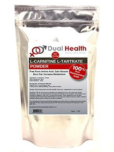 Pure L-Carnitine L-Tartrate Powder (1 lb) Bulk Supplements ** Click image for more details.