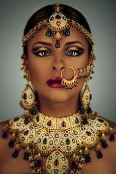 African Bride. i want a nose ring.
