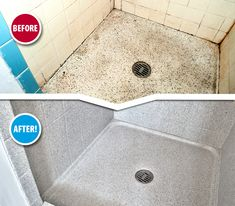 The good news: you have guests arriving in a couple weeks for the Holidays! The bad news: that ugly guest bathroom shower! Luckily, Miracle Method can make it beautiful again in about 2 days. Contact us today! Beautiful Bathrooms, Refinished, Shower Floor Tile, Shower Floor, Resurface Countertops, Countertops, Bathroom Tub, Refinish Bathtub, Tile Refinishing