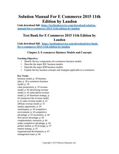 Instant download and all chapters solution manual computer science download solution manual for e commerce 2015 11th edition by laudon fandeluxe Image collections