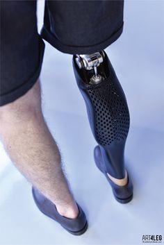 Customized 3D Printed prosthetic leg cover. on Behance