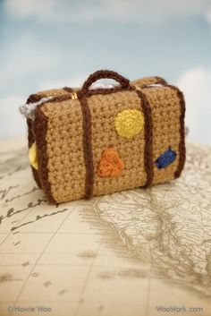 A Travel Suitcase - crochet creations - Howie Woo idea