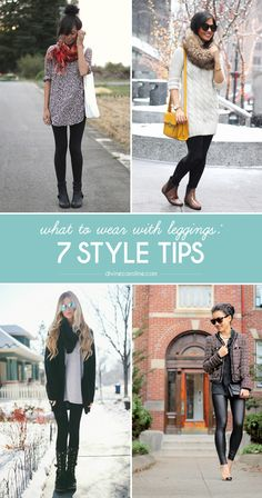 Here are 7 style tips when it comes to wearing leggings this fall. #divinecaroline #style
