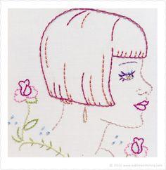 The Bob - Embroidery Pattern by Jenny Hart