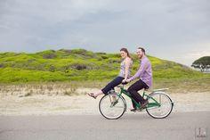 Cute bike riding together