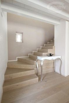 Pietra - Rovere Select Europeo - Spazzolato Interior Stairs, Apartment Interior, Home Room Design, House Design, Muji Home, M48, Led Lighting Home, Architectural House Plans, Steps Design